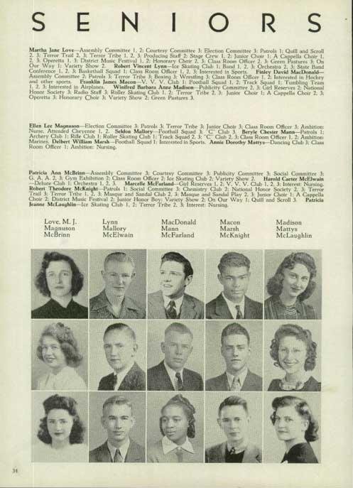 Frank's High School Yearbook