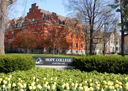 Photo building on the campus of Hope College in Holland, Michigan.